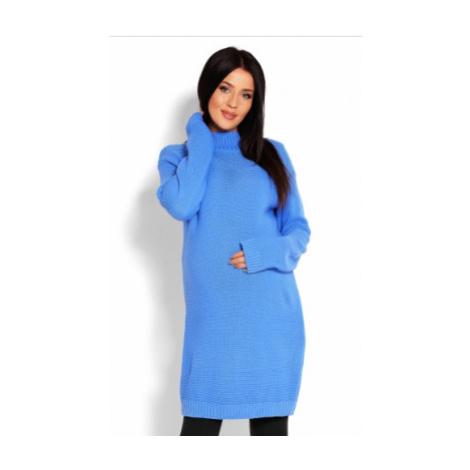 Be MaaMaa Těhotenský svetr, tunika - modrá, vel.