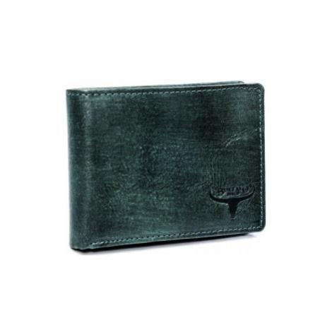 Pánská kožená peněženka Buffalo Wild Hofn, zeleno/černá