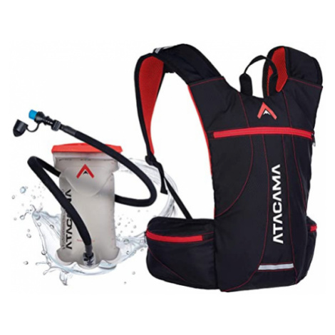 Sportovní batoh s vakem na vodu 2L značky ATACAMA Barva: Červená s vakem na vodu 2L