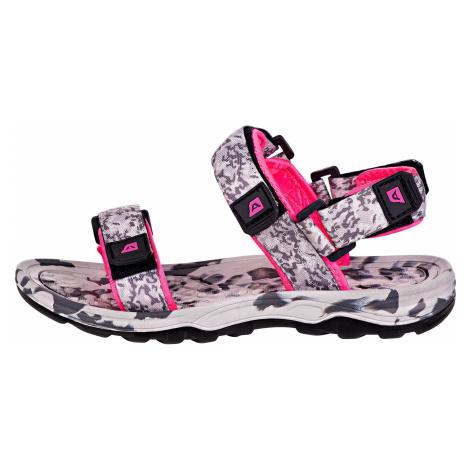 UNI letní obuv Alpine Pro BATHIALY - šedo-růžová