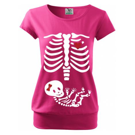 Tričko pro budoucí maminky kostřička děvčátko BezvaTriko
