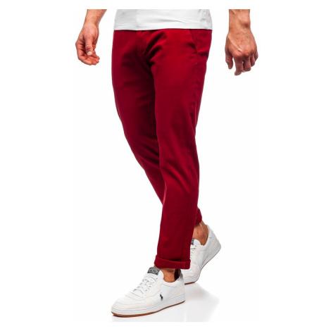 Červené pánské chino kalhoty Bolf 1143