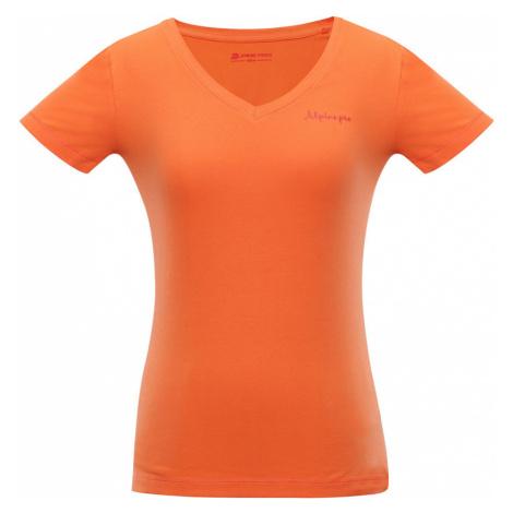ALPINE PRO LUKA 2 Dámské triko LTSN344339 tmavě oranžová