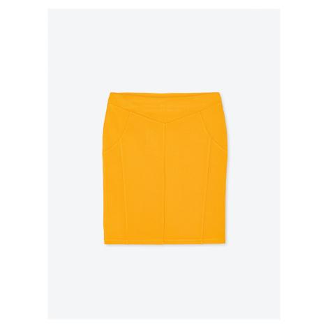 GATE Jednobarevná popnutá sukně