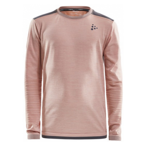 Dětské tričko CRAFT Fuseknit Comfort světle růžová