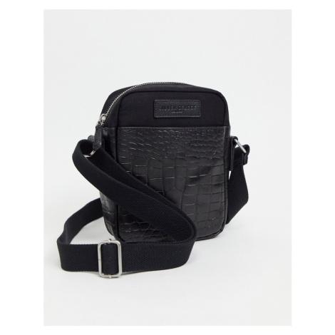 Silver Street leather flight bag-Black