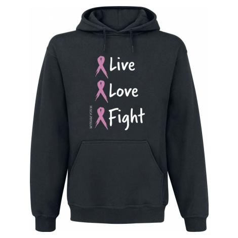 Fuck Cancer by Myriam von M Live Love Fight Mikina s kapucí černá