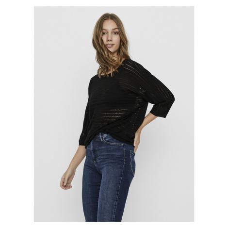 Vero Moda černý dlouhý svetr Yoyo