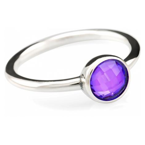 Linda's Jewelry Stříbrný prsten Shiny Effect Violet IPR025 Velikost: 54