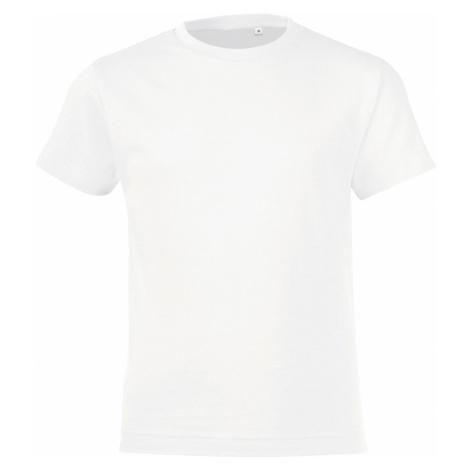SOĽS Dětské triko REGENT FIT KIDS 01183102 Bílá SOL'S