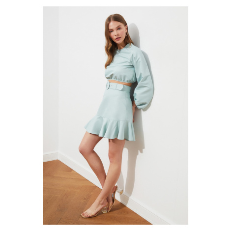 Trendyol Mint Belted Skirt