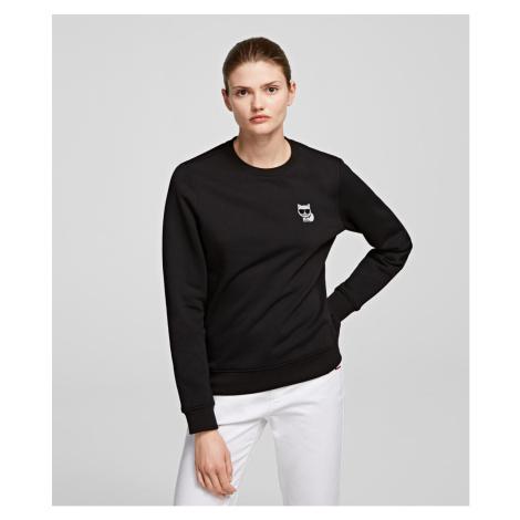 Mikina Karl Lagerfeld Ikonik Mini Choupette Rs Sweat - Černá