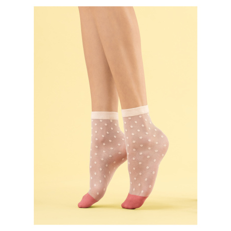 Dámské ponožky Fiore G 1108 Panna Cotta 8 den univerzální