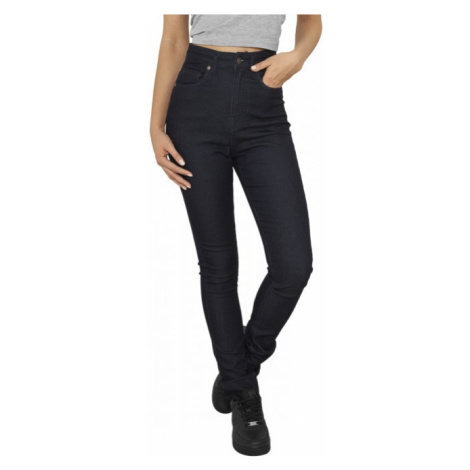 Urban Classics Ladies High Waist Denim Skinny Pants dark blue denim