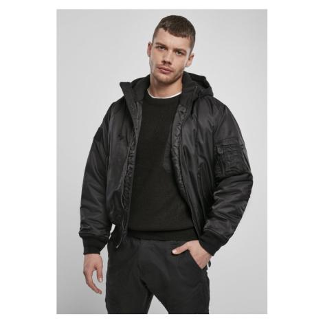 Hooded MA1 Bomber Jacket - black Urban Classics