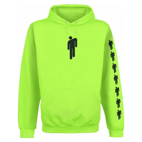 Eilish, Billie Logo mikina s kapucí neonově zelená