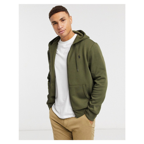 Polo Ralph Lauren player logo zipthru hoodie in olive green