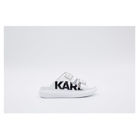 Pantofle Karl Lagerfeld Kapri Double Buckle Karl - Bílá