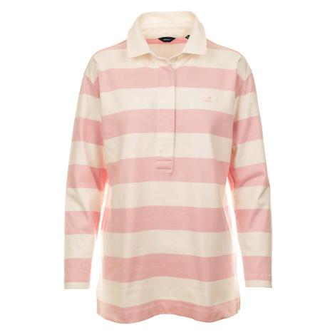 Gant dámské polo tričko bílo růžové
