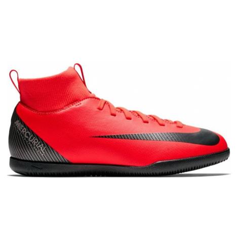 Dětské sálovky Nike MercurialX Superfly 6 Club CR7 IC Červená / Černá