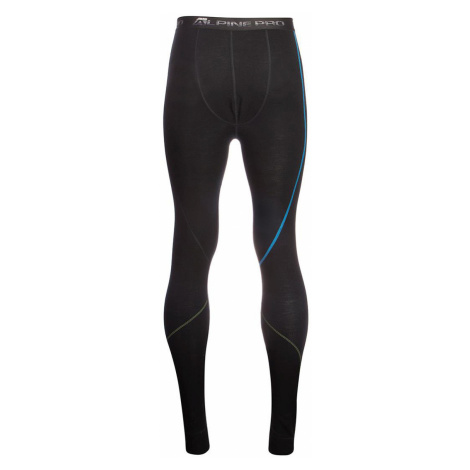 ALPINE PRO GEZER 2 Pánské spodní kalhoty - merino MUNM040990PB černá