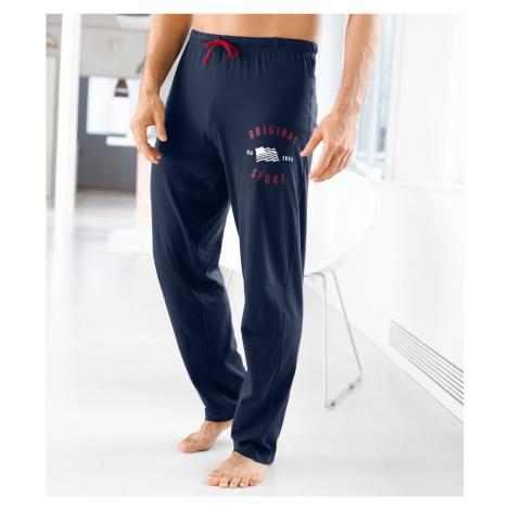 Blancheporte Pyžamové kalhoty s potiskem nám.modrá