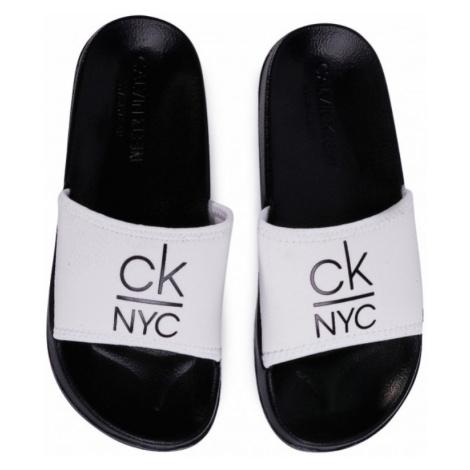 Pantofle Calvin Klein KW0KW01054 Bílá