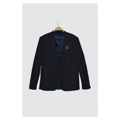 Trendyol Navy Blue Men's Blazer Textured Jacket