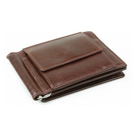 Tmavě hnědá pánská kožená peněženka Miles Arwel