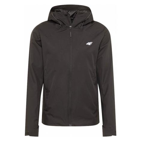 4F Sportovní bunda černá / bílá