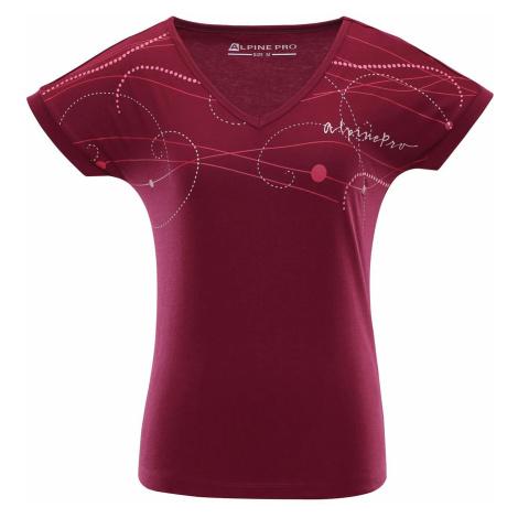 Dámské triko Alpine Pro HARISA - tmavě fialová