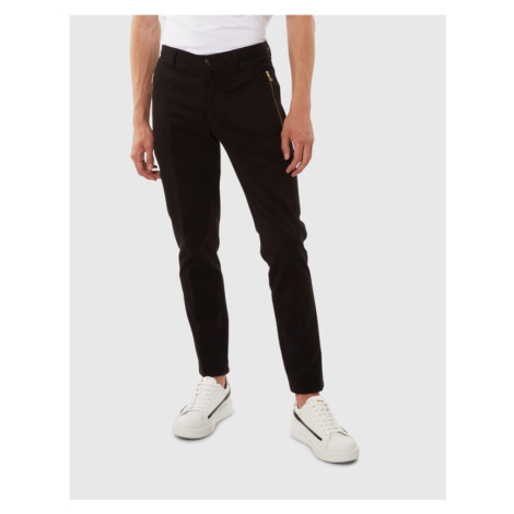 Kalhoty La Martina Man Trousers Twill Stretch - Černá