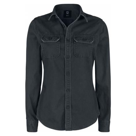 Brandit Dívčí vintage tričko s dlouhými rukávy dívcí halenka černá