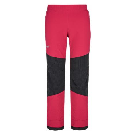 Dětské softshellové kalhoty KILPI RIZO-J růžová