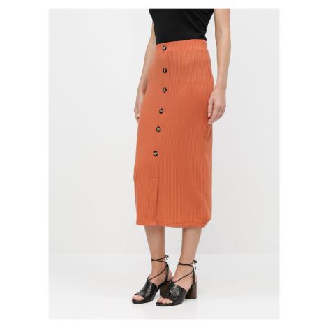 Tally Weijl cihlová pouzdrová sukně