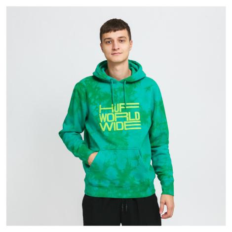 HUF Broadcast Tiedye Hoodie zelená