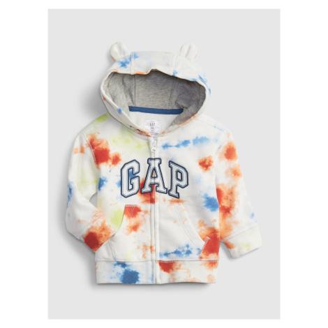 GAP barevné dětská mikina Logo fr ft arch fz hood - fash