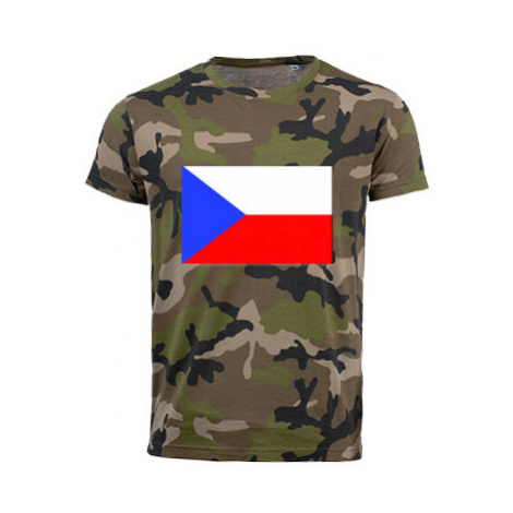 Pánské maskáčové tričko Česká republika