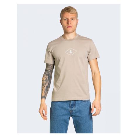Calvin Klein Calvin Klein Jeans pánské béžové tričko CK MONOTRIANGLE TEE