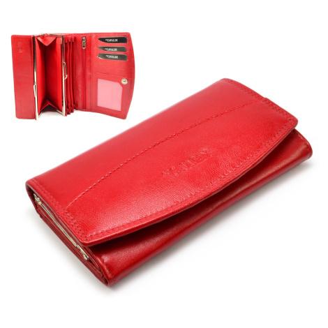 Dámská peněženka červená velká Cavaldi