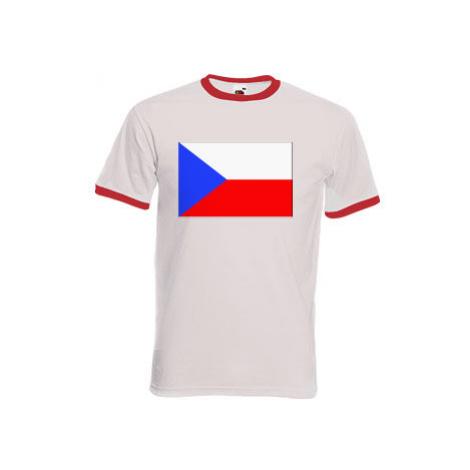 Pánské tričko s kontrastními lemy Česká republika