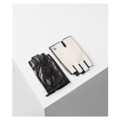 Rukavice Karl Lagerfeld K/Logo Leather Glove - Bílá