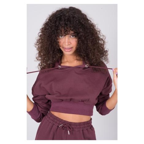BSL Maroon short women´s sweatshirt Fashionhunters