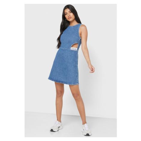 Calvin Klein Calvin Klein dámské denim šaty CUT OUT DRESS
