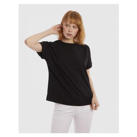 Tričko La Martina Woman Jersey/Voile T-Shirt - Černá