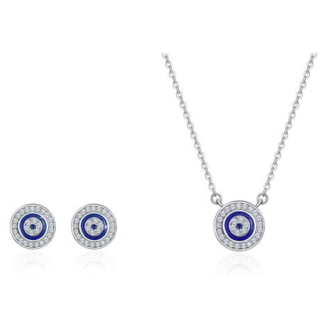 Linda's Jewelry Zvýhodněná sada šperků Modré Oko Moudrosti Ag 925/1000 IS052