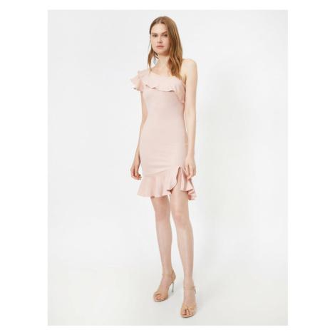 Koton Women's Pink Fir Detail Dress