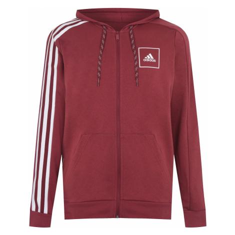 Adidas 3 Stripe Tape Full Zip Men's Hoodie