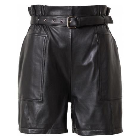 RAIINE Kalhoty se sklady v pase 'FLOYD' černá