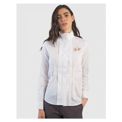 Košile La Martina Woman Cotton Poplin Shirt L/S - Bílá